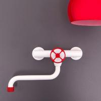 Nicolazzi Cucina Classica смеситель  для кухни настенный 3704 BIM 97W RED
