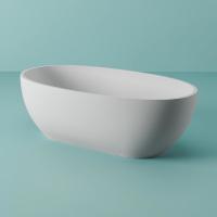 ArtCeram HOPS ванна из искусственного камня отдельностоящая 170х70 см. белая матовая