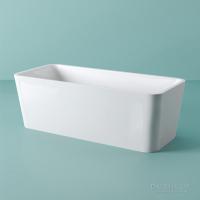 ArtCeram SQUARE ванна из искусственного камня отдельностоящая 180х80 см. белая матовая