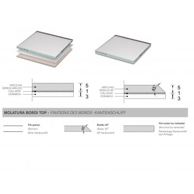 Зеркальная плитка Artelinea - Gemme Esagonali