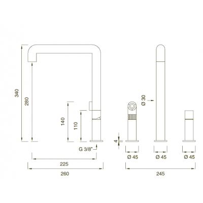 Cea Design смеситель для кухни car07