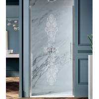 Samo Eterna Dolce Vita душевая дверь в нишу 90 см. стекло прозрачное, профиль хром,декор