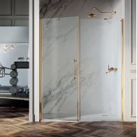 Samo Eterna Dolce Vita душевая дверь в нишу 167-171 см. стекло прозрачное, профиль золото 24K