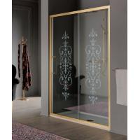 Samo Villa Borghese Dolce Vita душевая дверь в нишу 170*90 см. стекло прозрачное с декором, профиль золото