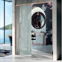 Samo Duomo DolceVita душевая дверь в нишу 100 см. стекло зеркало, профиль бронза