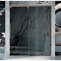 Samo Duomo DolceVita душевая дверь в нишу 100 см. стекло серое, профиль бронза