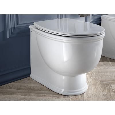 AeT PRINCESS WC унитаз с крышкой  белый/золото