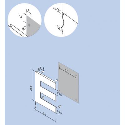 Antrax Pettine полотенцесушитель электрический 68,5*55