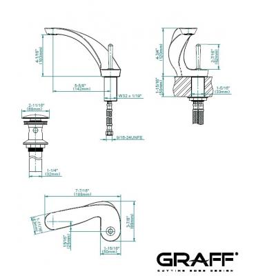 Graff Ametis Смеситель для умывальника на изделие 5108000