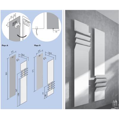 Antrax Flaps полотенцесушитель EC FPA171001(T)+R10+T11 электрическая версия