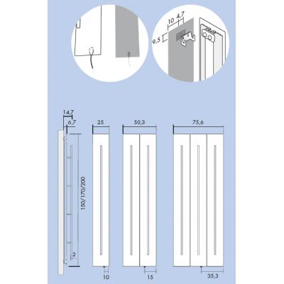 Antrax Teso полотенцесушитель электрический 170*25