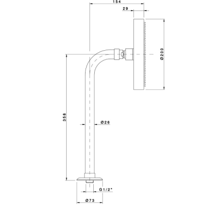 Nicolazzi Shower Душевая лейка настенная 5704CR20