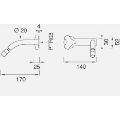 CeaDesign Ziqq смеситель для биде настенный Ziq28