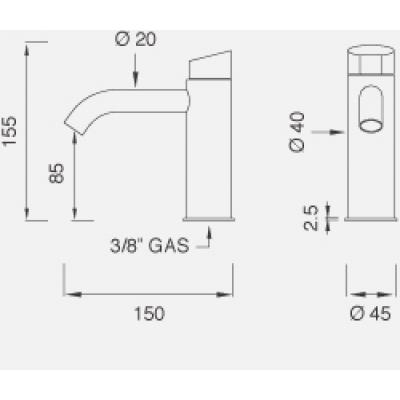 CeaDesign Ziqq смеситель для биде на изделие Ziq39