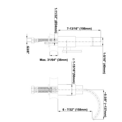 Graff Sade Смеситель для биде на изделие 2332500
