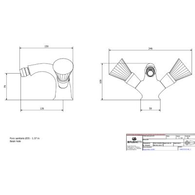 IB Rubinetterie Birkin смеситель для биде на изделие BR225_3