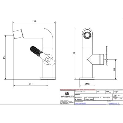 IB Rubinetterie Bold Lever смеситель для биде на изделие B2220
