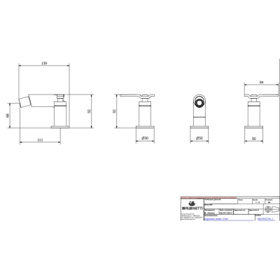 IB Rubinetterie Bold Lever смеситель для биде на изделие KB2393