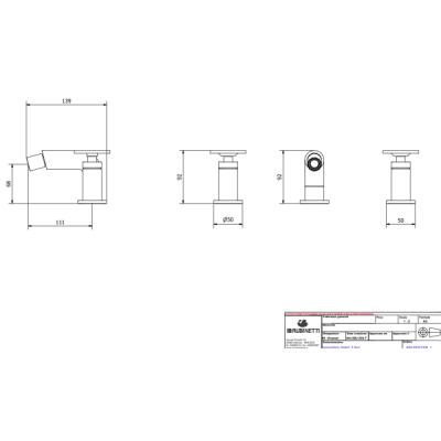 IB Rubinetterie Bold Round смеситель для биде на изделие KB1393