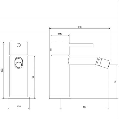 IB Rubinetterie Industria Смеситель для биде на изделие ID220