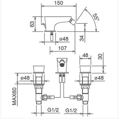 LaTorre Laghi Смеситель для биде на изделие 44811 CS