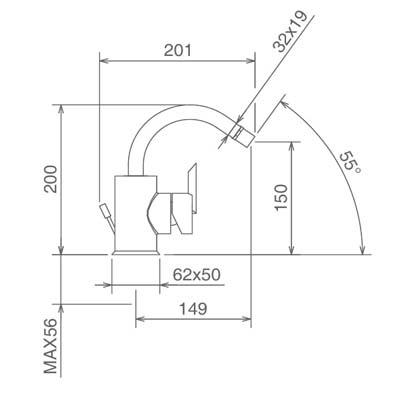 LaTorre Ovaline Смеситель для биде на изделие 26611 CS