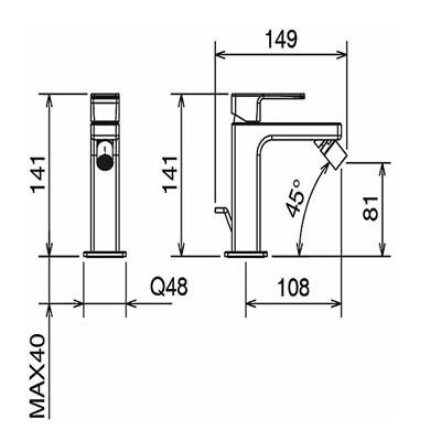LaTorre Profili Смеситель для биде на изделие 45011 CS