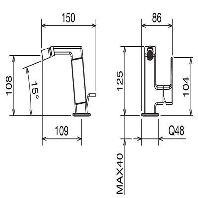 LaTorre Profili Смеситель для биде на изделие 45611 CS