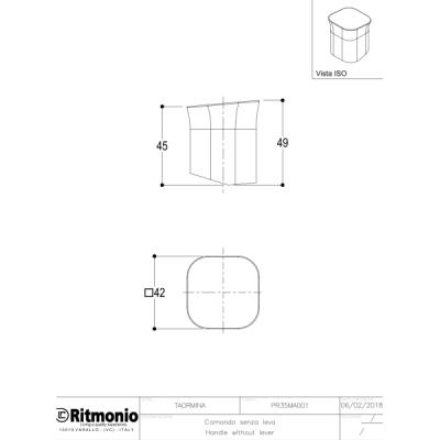 Ritmonio Taormina смеситель для биде на изделие PR35BU101+PR35MA001
