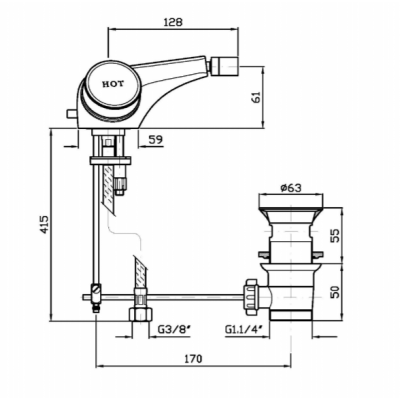 Zucchetti Savoir смеситель для биде на изделие ZSV603.CC