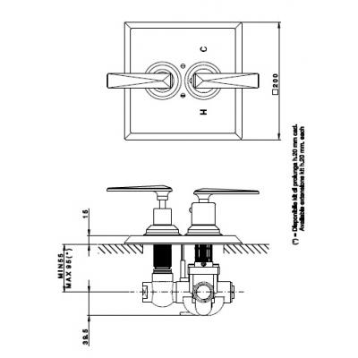 Nicolazzi Thermostatic Смеситель для душа настенный 4909CR29