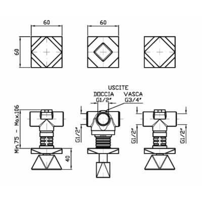 Zucchetti Wosh смеситель для душа настенный ZW5698 - R99502