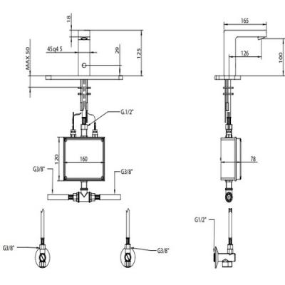 Bongio Electronic Сенсорный смеситель для раковины на изделие 46521/EL