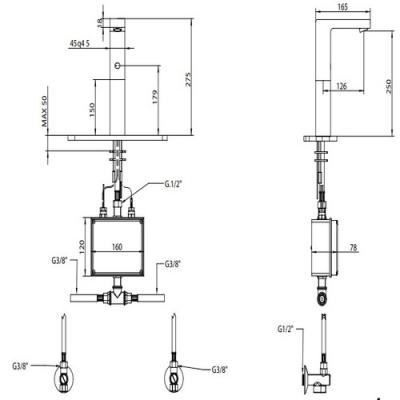 Bongio Electronic Сенсорный смеситель для раковины на изделие 46532/EL