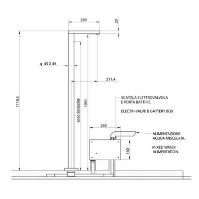 Bongio Electronic Сенсорный смеситель для раковины напольный 46533/EL