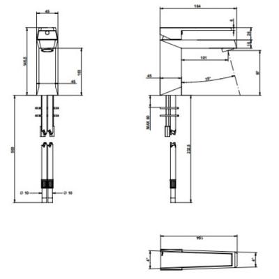 Bongio Stelth Смеситель для раковины на изделие 01521