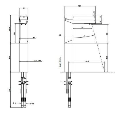 Bongio Stelth Смеситель для раковины на изделие 01532