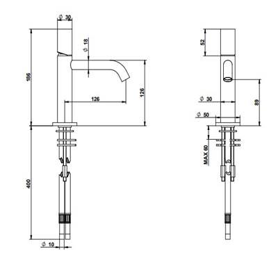 Bongio Time2020-W Смеситель для раковины на изделие 69521AS00