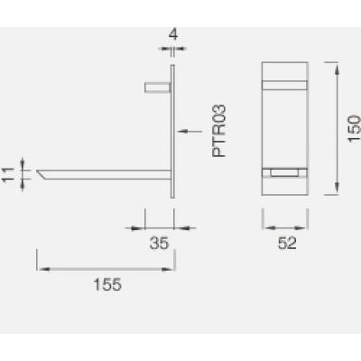 CeaDesign Bar смеситель для раковины настенный Bar15