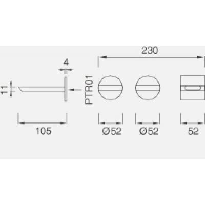 CeaDesign Bar смеситель для раковины настенный Bar23