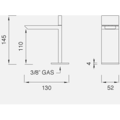 CeaDesign Bar смеситель для раковины на изделие Bar30