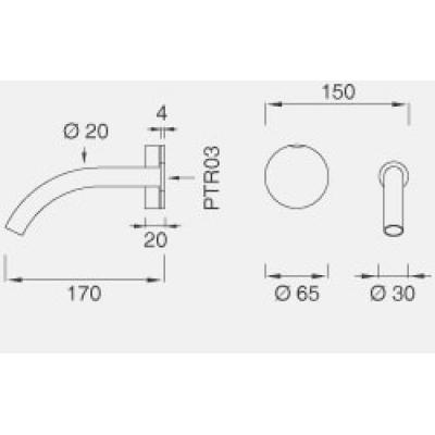 CeaDesign Giotto смеситель для раковины настенный Gio19