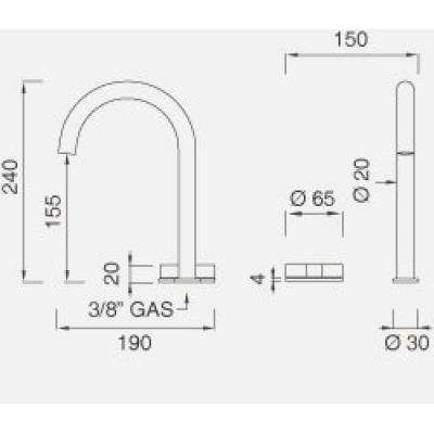 CeaDesign Giotto смеситель для раковины на изделие Gio21
