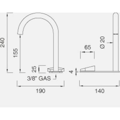 CeaDesign Ziqq смеситель для раковины на изделие Ziq32