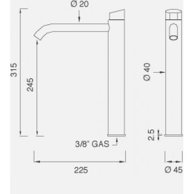 CeaDesign Ziqq смеситель для раковины на изделие Ziq40