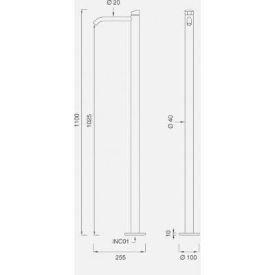 CeaDesign Ziqq смеситель для раковины напольный Ziq41