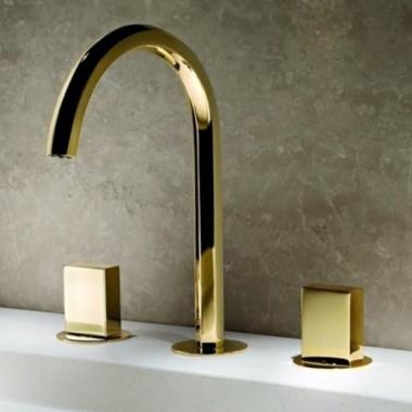 Fantini Venezia Смеситель для раковины на изделие N404S цвет золото , ручки металл
