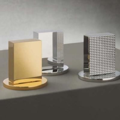 Fantini Venezia Смеситель для раковины на изделие N504S цвет хром +ручки мурано белые