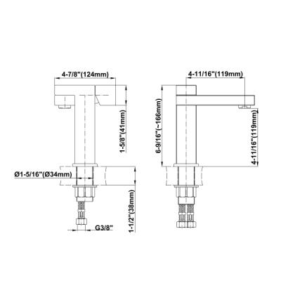Graff Structure Смеситель для раковины на изделие 2170000