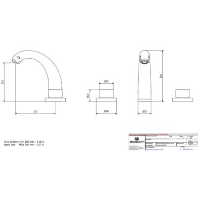 IB Rubinetterie Birkin смеситель для раковины на изделие BR390_1